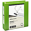 """Office Depot® Brand Heavy-Duty View 3-Ring Binder, 2"""" D-Rings, 49% Recycled, Army Green"""