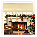 """Great Papers! Holiday Greeting Cards, 5 5/8"""" x 7 7/8"""", Western Mantel, Pack Of 18"""