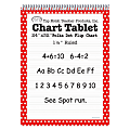 "Top Notch® Polka Dot Chart Tablets, 24"" x 32"", 1 1/2"" Ruled, Red, Pack Of 2"