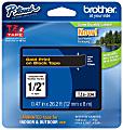 "Brother® TZE334 Label Tape, 1/2"", Black/Gold"