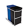 simplehuman Pull-Out Trash Can Recycler, 9.3 Gallons