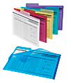 Office Depot® Brand Poly Project Tab Folders, Letter Size, Assorted Colors, Pack Of 6