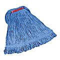 "Rubbermaid Super Stitch Blend Mop, Medium 1"" Headband, Blue"