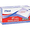 "Mead No. 6-3/4 All-purpose White Envelopes - Business - #6 3/4 - 3 5/8"" Width x 6 1/2"" Length - Self-sealing - 65 / Box - White"