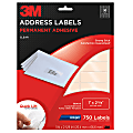 """3M™ Clear Inkjet Address Labels, 1"""" x 2 5/8"""", Pack Of 750"""