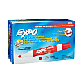 EXPO® Low-Odor Dry-Erase Markers, Chisel Point, Red, Pack Of 12