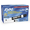 EXPO® Low-Odor Dry-Erase Markers, Chisel Tip, Black, Pack Of 12