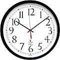 Chicago Lighthouse Self-set Clock - Analog - Quartz - White Main Dial - Black/Polystyrene Case - Contemporary Style