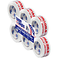 """Tape Logic® Fragile Handle With Care Preprinted Carton Sealing Tape, 3"""" Core, 2"""" x 110 Yd., Red/White, Case Of 6"""