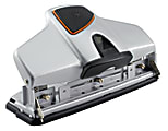 Office Depot® Brand Adjustable 3-Hole Punch, 30-Sheet Capacity, Silver