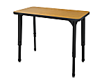 Marco Group™ Apex™ Series Student Adjustable Desk, Rectangle, Solar Oak/Black