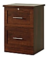 """Realspace® 2-Drawer 17""""D Vertical File Cabinet, Mulled Cherry"""