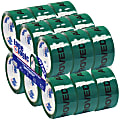 """Tape Logic® Pre-Printed Carton Sealing Tape, Approved, 2"""" x 55 Yd., Green/Black, Case Of 18"""