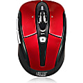 Adesso® iMouse S60R Wireless RF Programmable Nano Optical Mouse, Red