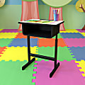 "Flash Furniture 24""W Student Desk, Gray"
