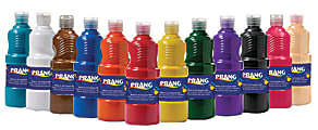 Prang® Ready-To-Use Tempera Paint, 16 Oz., Assorted Colors, Pack Of 12
