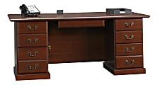 "Sauder® Heritage Hill 71""W Executive Desk, Classic Cherry"