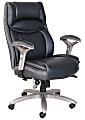 Serta® Smart Layers™ Jennings Big And Tall Bonded Leather High-Back Executive Chair, Black/Slate