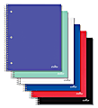 """Office Depot® Brand Stellar Poly Notebook, 8-1/2"""" x 11"""", 1 Subject, Quadrille Ruled, 100 Sheets, Assorted Colors (No Color Choice)"""