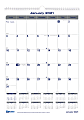 "Blueline® Net Zero Carbon Monthly Wall Calendar, 12"" x 17"", 50% Recycled, FSC® Certified, Blue/Grey, January to December 2021"