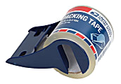 """United States Post Office Shipping Tape With Dispenser, 1.88"""" x 22 Yd., Clear"""