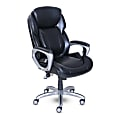 Serta® My Fit Bonded Leather High-Back Chair With Tailored Reach, Black