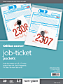 """Office Depot® Brand Job Ticket Holders, 9"""" x 12"""", Clear, Non-Glare, Pack Of 20"""