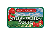 AmuseMints® Fruit Sours, Strawberry, 0.56 Oz, Pack Of 24