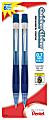Pentel® Quicker Clicker™ Mechanical Pencil, 0.7mm, #2 Lead, Transparent Blue Barrel, Pack Of 2