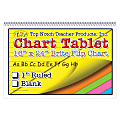 "Top Notch® Brite Chart Tablets, 16"" x 24"", 1"" Ruled, Assorted Colors, Pack Of 3"