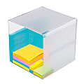 """Deflect-O® Stackable Cube, 6""""H x 6""""W x 6""""D, Clear"""