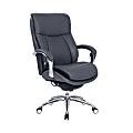 Serta® iComfort i5000 Big And Tall Ergonomic Bonded Leather Executive Chair, Slate/Silver