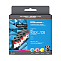 Office Depot® Brand OD932XLK933CMY-C Remanufactured High-Yield Black/Tri-Color Ink Cartridge Replacement For HP 932XL / 933