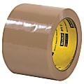 "3M™ 371 Carton Sealing Tape, 3"" Core, 3"" x 110 Yd., Tan, Case Of 6"