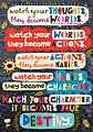 """Scholastic POP! Chart, Watch Your Thoughts, 25 3/8"""" x 19"""", Multicolor"""