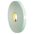 "3M™ 4032 Double-Sided Foam Tape, 3"" Core, 1"" x 216', Natural"