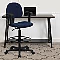 Flash Furniture Ergonomic Drafting Chair, Navy/Black