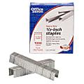 "Office Depot® Brand Staples, 1/2"" Heavy-Duty, Half Strip, Box Of 1,000"