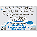 """Pacon Unruled Chart Tablet - 25 Sheets - Plain - Spiral Bound - Unruled - 24"""" x 16"""" - White Paper - Stiff Cover - Sturdy Back, Recyclable - 1 / Each"""