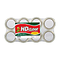"Duck® HD Clear™ Heavy-Duty Packaging Tape, 1-7/8"", Crystal Clear, Pack Of 8 Rolls"
