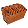 Globe-Weis® A-Z High-Quality Expanding File, Legal Size, Brown