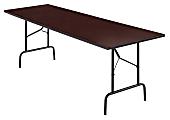 """Realspace® Folding Table, 29""""H x 96""""W x 30""""D, Walnut"""