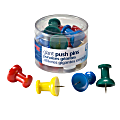 OIC® Giant Pushpins, Assorted Colors, Pack Of 12