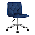 Glamour Home Amali Office Chair, Blue