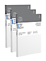 """Winsor & Newton Professional Cotton-Stretched Traditional Canvases, 12"""" x 9"""", White, Pack Of 3"""