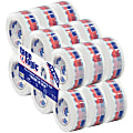 """Tape Logic® Made In USA Preprinted Carton Sealing Tape, 3"""" Core, 2"""" x 110 Yd., Multicolor, Pack Of 18"""