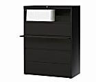 "WorkPro® 42""W Lateral 5-Drawer File Cabinet, Metal, Black"