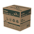"""Boise® ASPEN® 30 Multi-Use Paper, Letter Size (8 1/2"""" x 11""""), 20 Lb, 30% Recycled, FSC® Certified, Ream Of 500 Sheets, Case Of 5 Reams"""