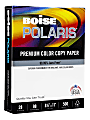 "Boise® POLARIS® Color Copy Paper, Letter Size (8 1/2"" x 11""), 98 (U.S.) Brightness, 28 Lb, FSC® Certified, Ream Of 500 Sheets, Case Of 6 Reams"