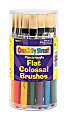 Chenille Kraft Creativity Street Colossal Paint Brushes, Natural, Flat, Assorted, Set Of 30